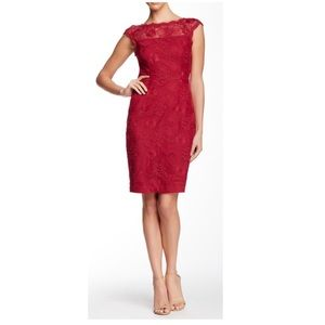 Cynthia Steefe Boatneck Lace Cap Sleeve Dr…